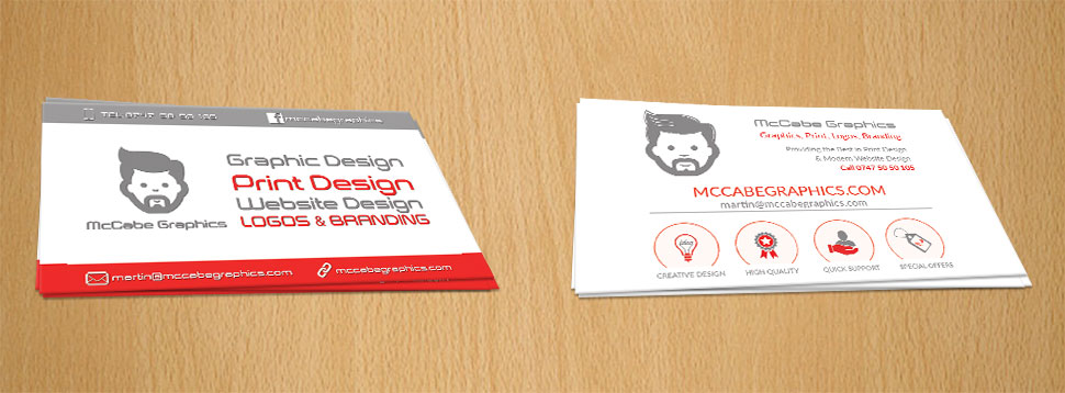 McCabe Graphics Newry Business Cards