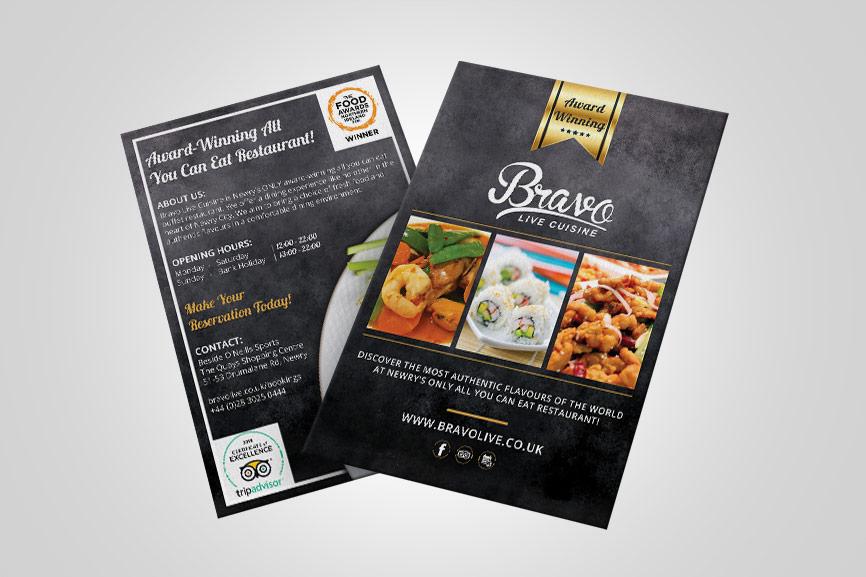 McCabe-Graphics-Web-Design-Newry-Bravo-Live-Cuisine-Leaflet